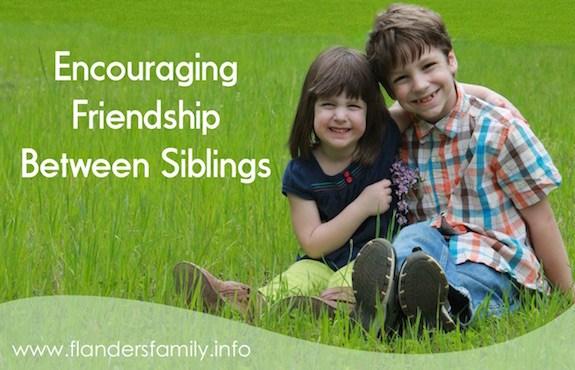 Encouraging Friendship between Siblings