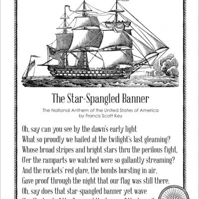 National Anthem and U.S. Pledge Printables