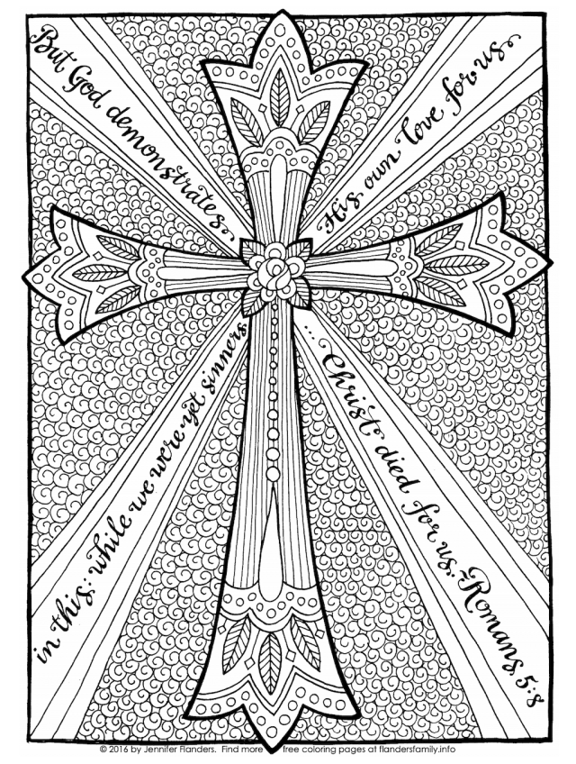 Cross of Christ Coloring Page - Flanders Family Homelife