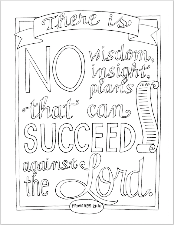 Plan for Success (Coloring Page)