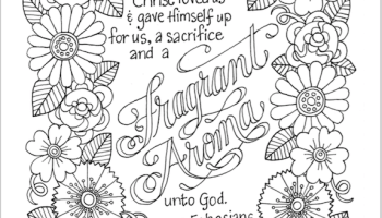 a fragrant aroma free coloring page - Romans 5 8 Coloring Page