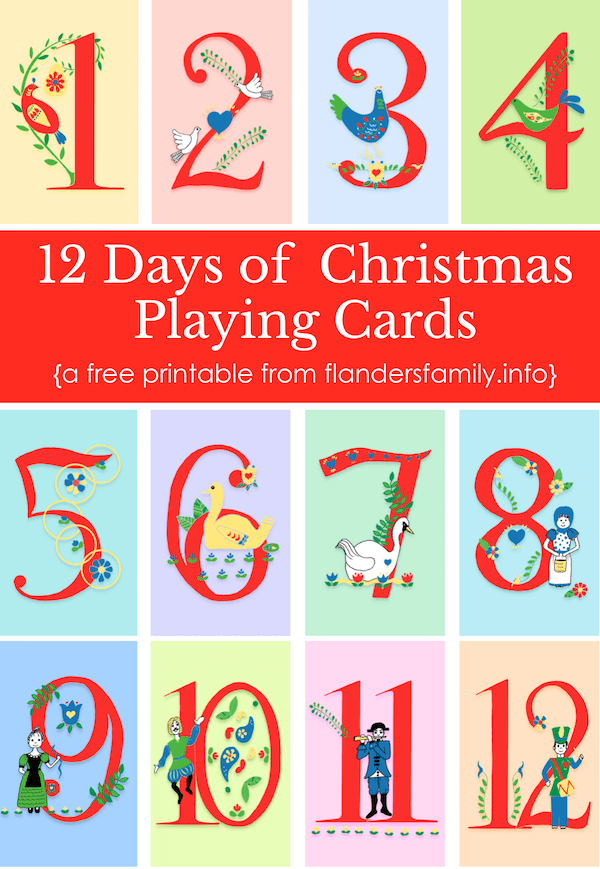 It is a graphic of Simplicity 12 Days of Christmas Printable