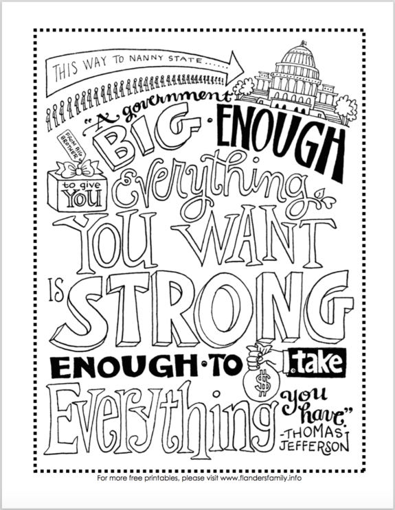 Constitution Day Coloring Pages Free Printables Flanders Family Homelife