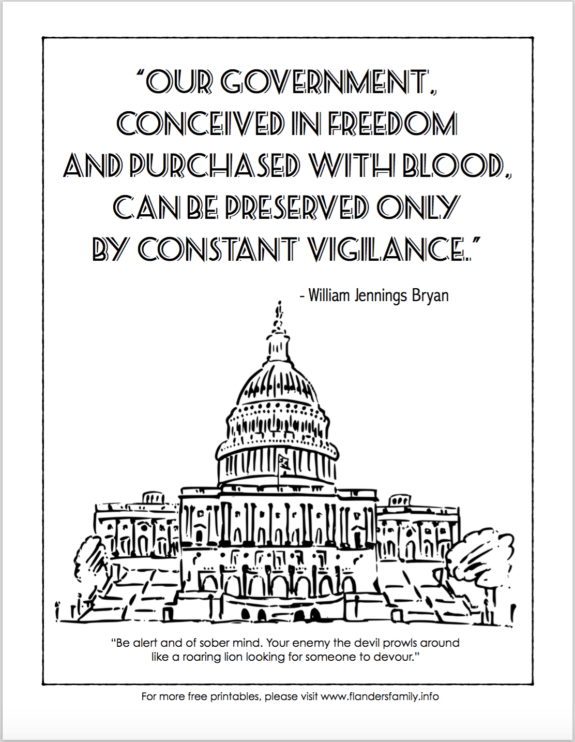 Constitution Day Coloring Pages Free Printables Flanders Family