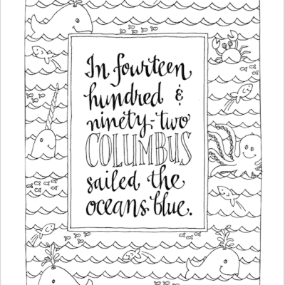 Columbus Day Coloring Page (Free Printable)