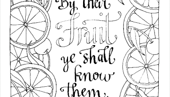 By Their Fruit Ye Shall Know Them Coloring Page