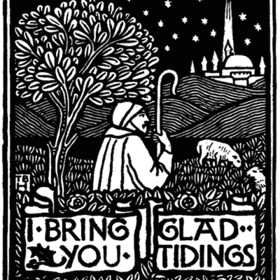 Glad Tidings (Free Printable Coloring Page)