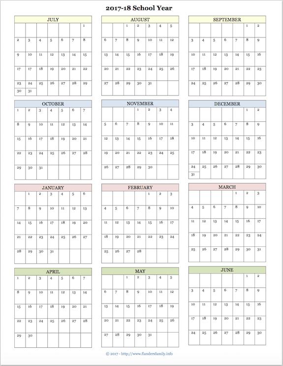 2018 year at a glance calendar template vatoz atozdevelopment co