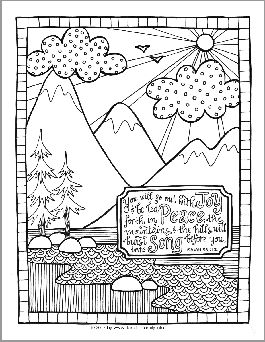 go out with joy coloring page