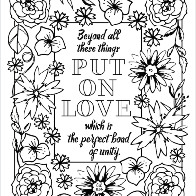 Put on Love (Coloring Page)