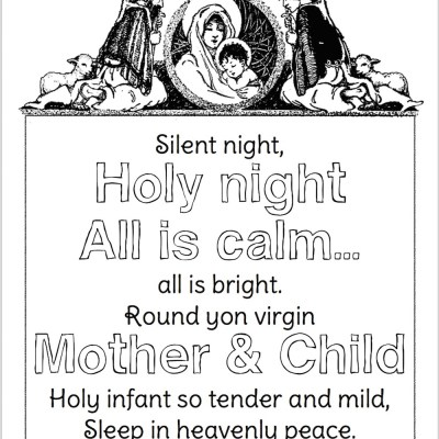 Silent Night (Free Coloring Page)