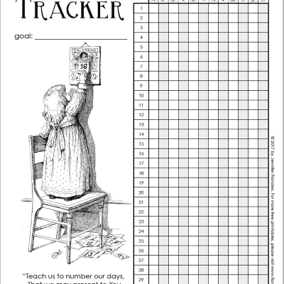 Start the New Year Right with a Free Printable Habit Tracker