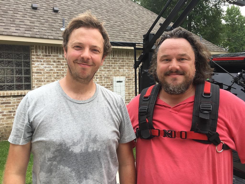 Mark and Jon on camera and sound
