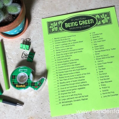It's Not Easy Being Green (Free Printable Game)