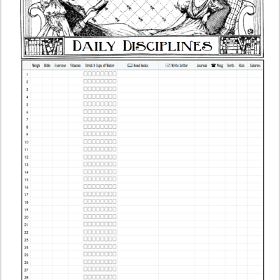 Time Management & Habit Tracking Printables