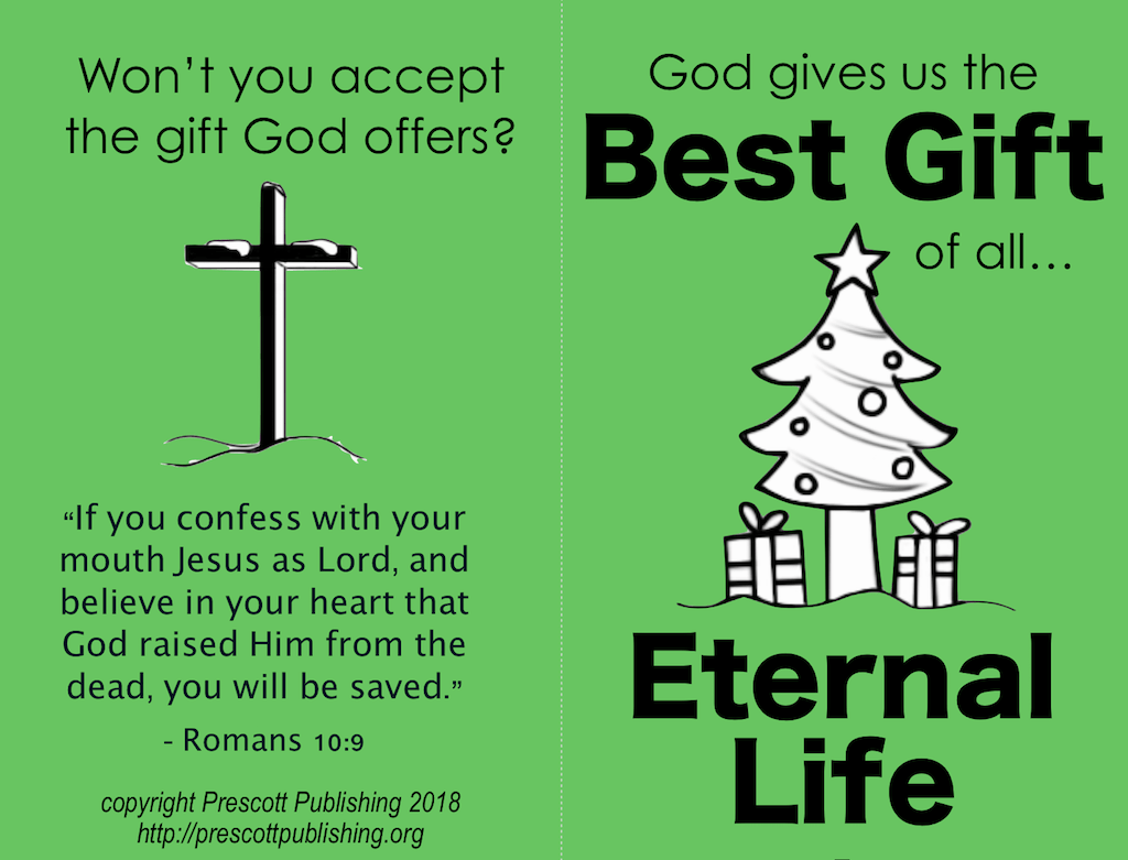Christmas Gospel Tracts Free Printables