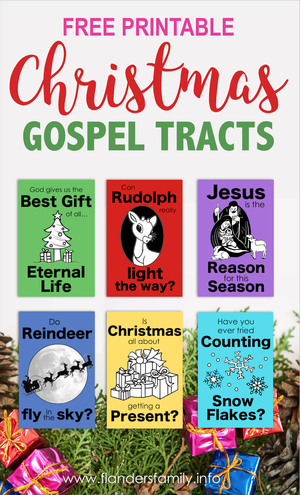 Christmas Gospel Tracts Free Printables Flanders Family