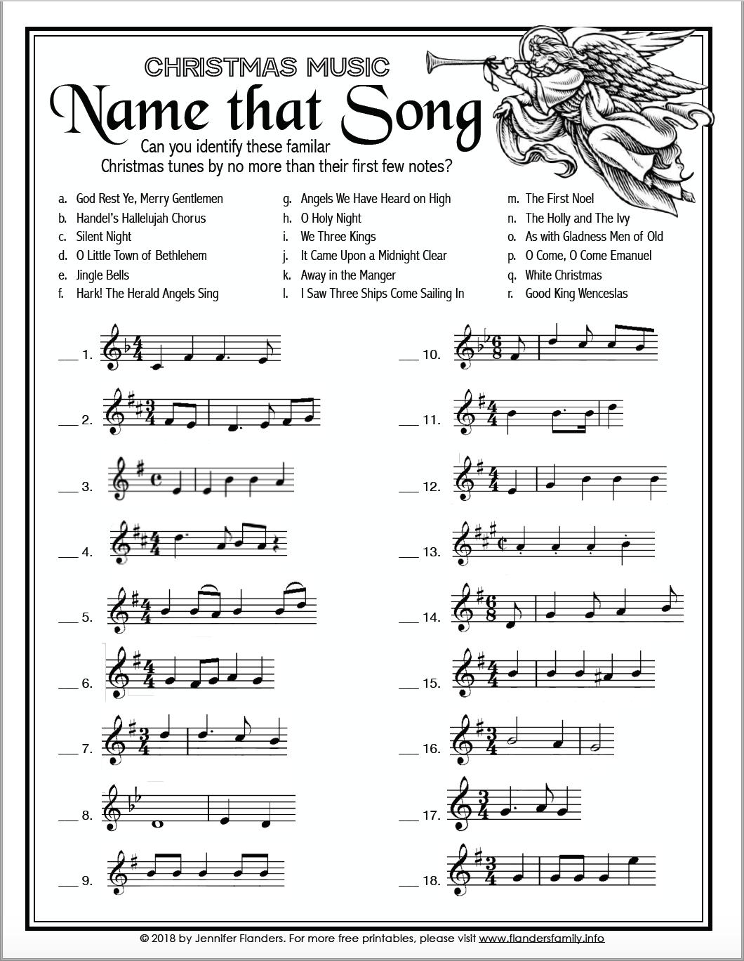 Name That Song Christmas Game