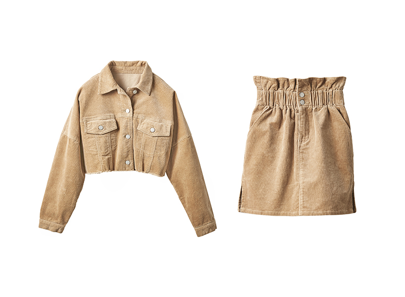 Winners matching camel corduroy set