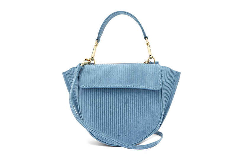 Wandler blue corduroy bag