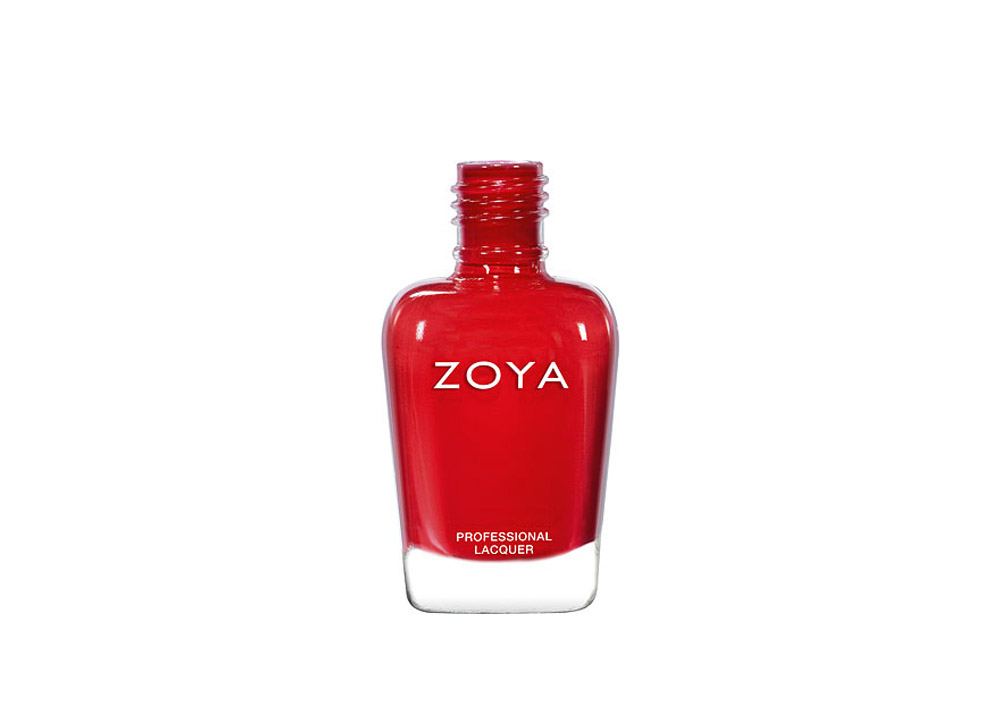 christmas nails simple: red nail polish from Zoya