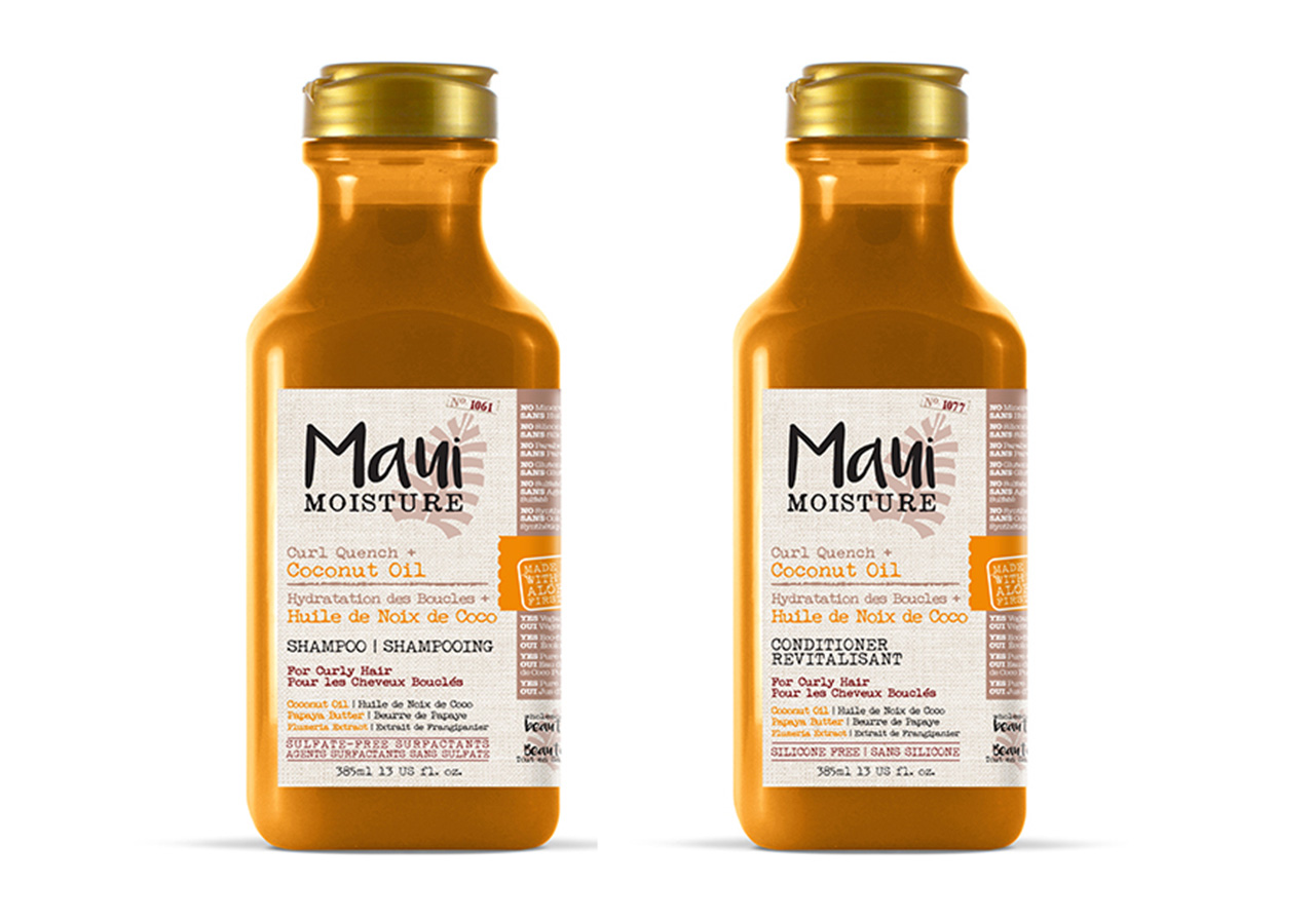 how to air dry hair without frizz: maui moisture shampoo and conditioner