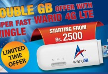 Warid introduces 4G LTE Wingle and MiFi