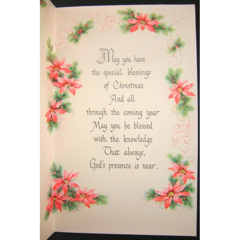 Helen Steiner Rice Inspirational Gibson Christmas Greeting