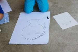 Create large scale self-portraits