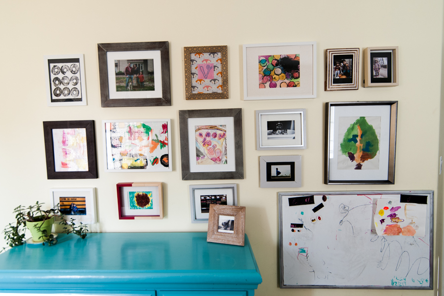 Five simple ways to organize kids' artwork.