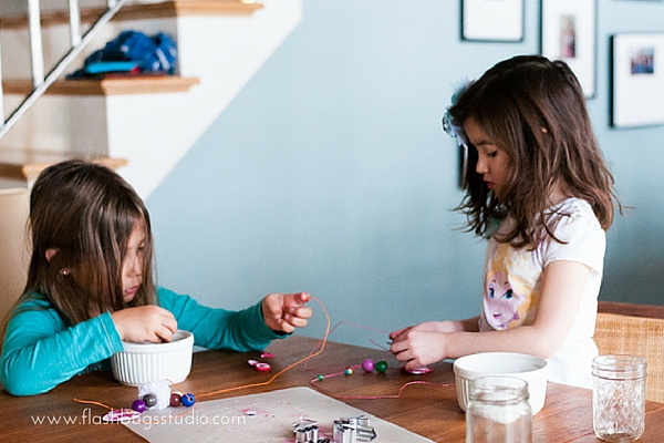 Make an easy monogrammed kids' friendship necklace with polymer clay.