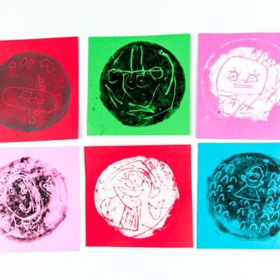 Kindergarten Art: Easy Printmaking Portraits