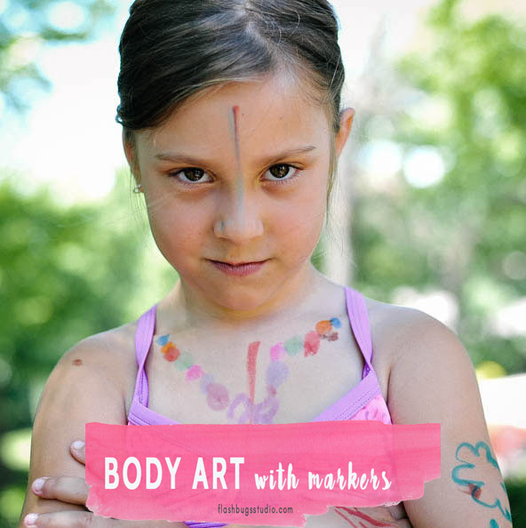 Let your kids make their own body art with markers.