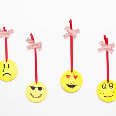 Easy Emoji DIY Ornament Craft For Kids
