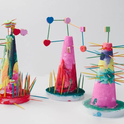 Create a STEAM inspired fantasy structure with kids.