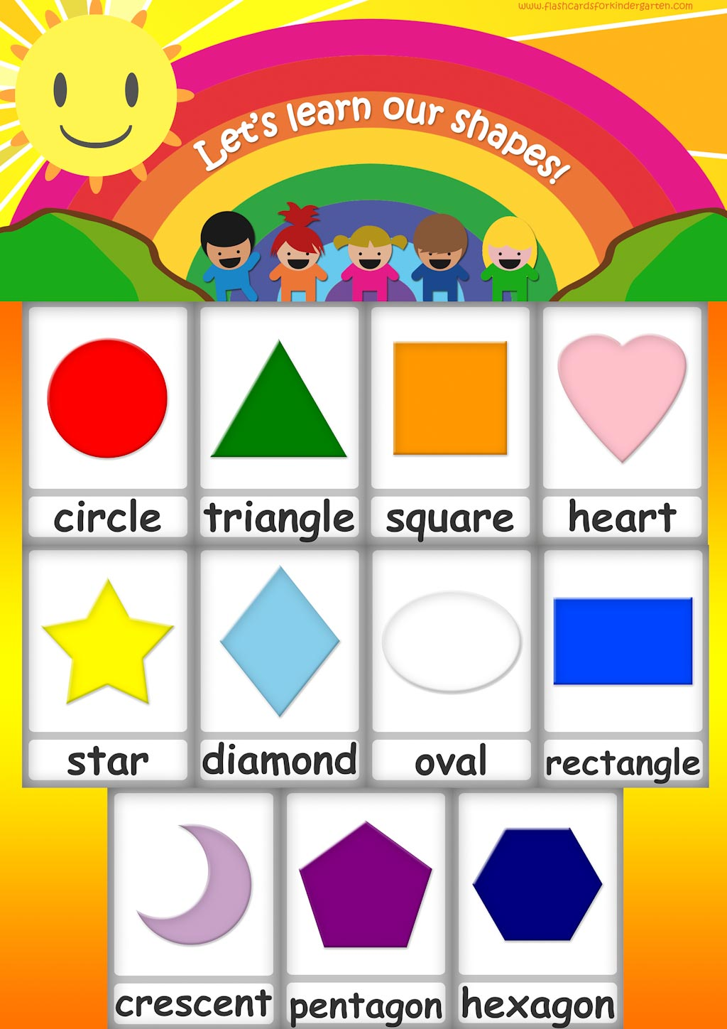 Shape Flashcards Teach Shapes Free Printable Flashcards Posters