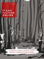 A dark woods for the December cover of Flash Fiction Online