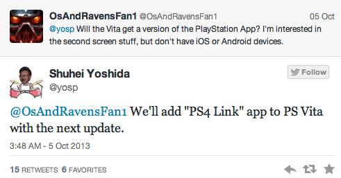 PS Vita Link App PS4
