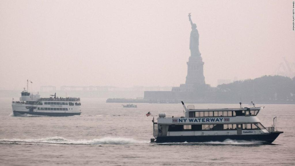 A cold front is pushing away smoke from wildfires that blanketed the East Coast. But it could return again soon