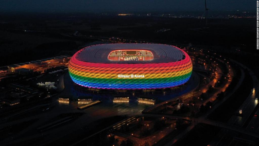 Calls made for Germany's Euro 2020 game against Hungary to be played in rainbow-colored stadium