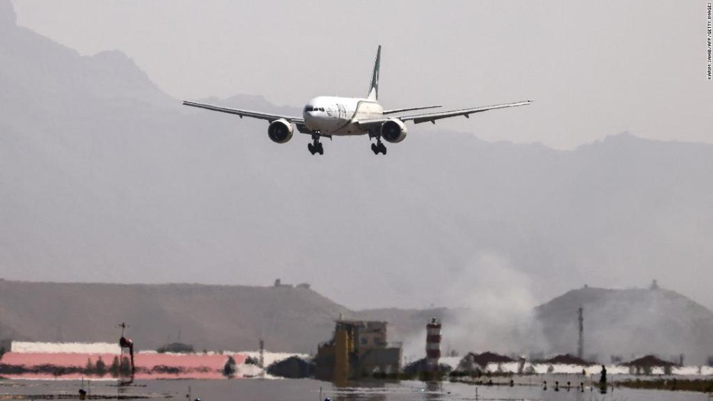 First Pakistan International Airlines flight since foreign troop withdrawal lands in Kabul