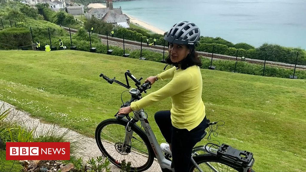 G7: A cycling tour of Cornwall's G7 village
