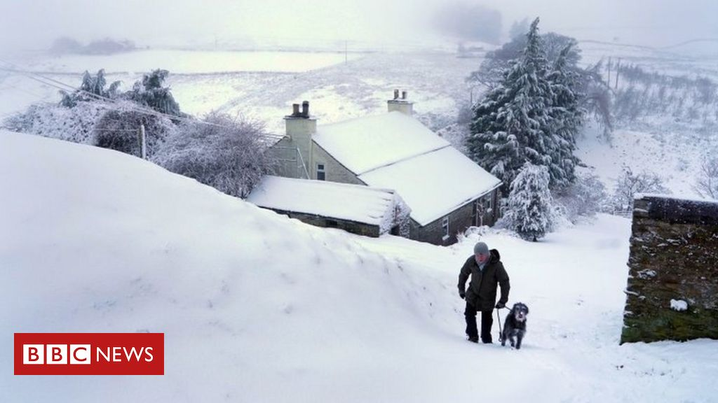 In pictures: Snowy scenes in many parts of UK