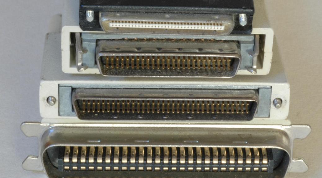 A few of the common scsi connectors