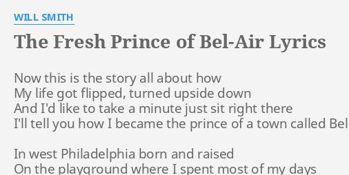 Fresh Prince Bel Air Lyrics