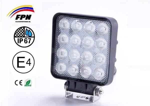 ZRM 48W Hoog Kwaliteit Werklamp Vierkant