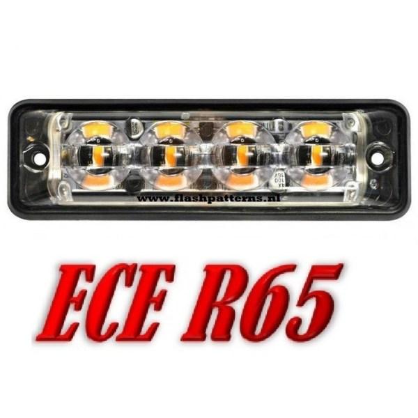 SSLT4 Super dun led flitser 4 X 3 WATT hoog intensiteit leds ECER65 Amber of Blauw 12 24V