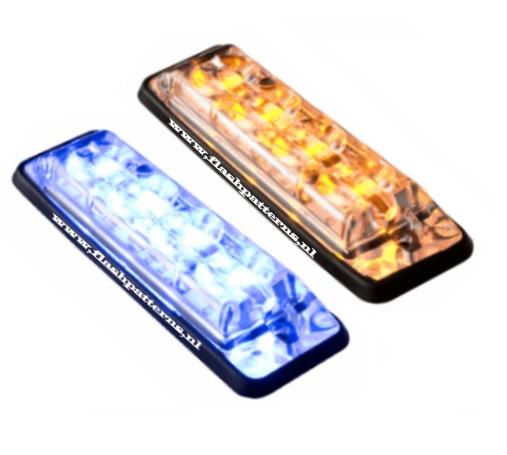 SSL-led-flitser-4x3-Watt-leds-r65-Amber or bluenew slant