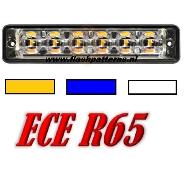 SSL-led flitser-6x3-Watt-leds-r65-A-B-W