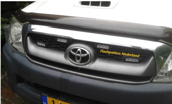C4 R65 led strobes flitsers amber toyota truck